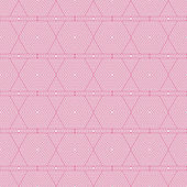 Pink and White Hexagon Tiles Pattern Repeat Background — Stock Photo