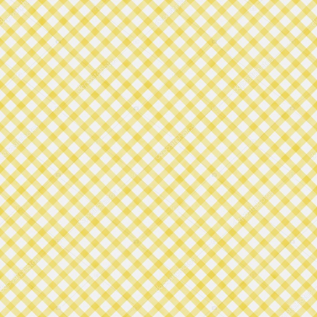 Pale Yellow Gingham Pattern Repeat Background — Stock ...