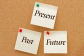 The past, present and the future — Stock Photo