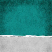 Square Dark Teal Grunge Torn Textured Background — Stock Photo