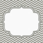 Gray and White Chevron Frame with Embroidery Background — Stock Photo
