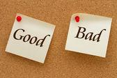 Good versus Bad — Stock Photo