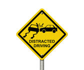 No Distracted Driving Sign — Stock Photo