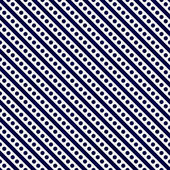 Navy Blue and White Small Polka Dots and Stripes Pattern Repeat  — Stock Photo