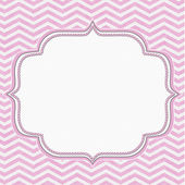 Pink and White Chevron Frame with Embroidery Background — Stock Photo