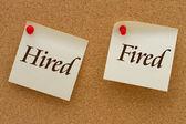Assunto contro licenziato — Foto Stock