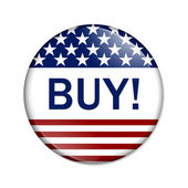 Buy American Button — Stock Photo