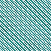Bright Teal and White Small Polka Dots and Stripes Pattern Repea — Stock Photo