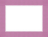 Pink and White Checkered Frame — Stock Photo