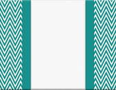 Teal and White Chevron Zigzag Frame with Ribbon Background — Stock Photo