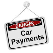 Dangers of having Car Payment — Stock Photo