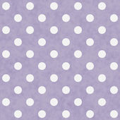 Purple and White Large Polka Dots Pattern Repeat Background — Stockfoto