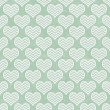 Green and White Chevron Hearts Pattern Repeat Background — Stock Photo #51377709