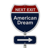 American Dream this way — Stock Photo