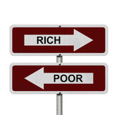 Rich versus Poor — Stock Photo