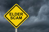Elder Scam Warning Sign — Stock Photo