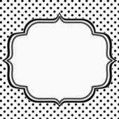 Black and White Polka Dot Background with Embroidery — Stock Photo