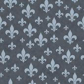 Blue Fleur-de-lis Pattern Repeat Background — Stock Photo