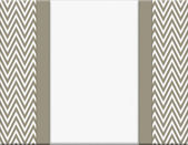 Brown and White Chevron Zigzag Frame with Ribbon Background — Stock Photo