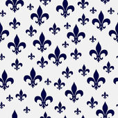 Navy Blue and White Fleur-de-lis Pattern Repeat Background — Stock Photo