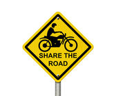 Share the Road Warning Sign — Stock Photo