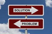 Solution versus Problem — Stock Photo