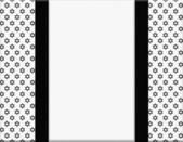 Black and White Star of David Patterned Frame with Ribbon Backgr — Stock Photo
