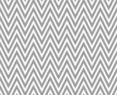 Gray and White Zigzag Textured Fabric Repeat Pattern Background — Stock Photo