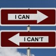 I can versus I can not — Stock Photo #51640059