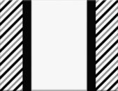 Black and White Striped Frame with Ribbon Background — Stock Photo