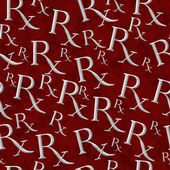 Red and Gray Prescription symbol Pattern Repeat Background — Stock Photo