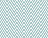 Blue and White Zigzag Textured Fabric Repeat Pattern Background — Stock Photo