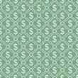 Green and White Dollar Sign Pattern Repeat Background — Stock Photo #51732989