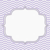 Purple and White Chevron Frame with Embroidery Background — Stock Photo