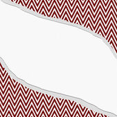Red and White Chevron  Zigzag Frame with Torn Background — Stock Photo