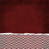 Square Red and White Zigzag Chevron Torn Grunge Textured Backgro — Stock Photo