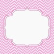 Pink and White Chevron Zigzag Frame Background — Stock Photo #51796533