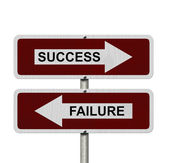 Success versus Failure — Stock Photo
