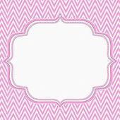 Pink and White Chevron Zigzag Frame Background — Stock Photo