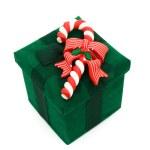Green Christmas Present — Stock Photo #6326183