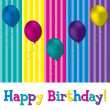 HAppy Birthday balloon card — Stock Photo