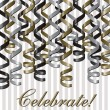 Curling ribbon inspired celebration card — Stock Photo #13620461