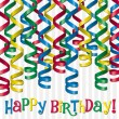 Curling ribbon inspired birthday card — Stock Photo #13620579