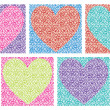 Mosaic tile hearts — Stock Photo