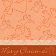 "Hand drawn angel ""Merry Christmas"" card — Stock fotografie"