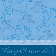 "Hand drawn angel ""Merry Christmas"" card — 图库照片"