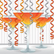 Bright cocktail and ribbon card — Stock Photo #13628096