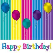 HAppy Birthday balloon card — Stock Photo
