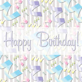 Ribbon theme birthday card — Stock Photo