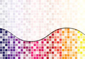 Purple, pink and yellow toned mosaic abstract business background — Stock Photo